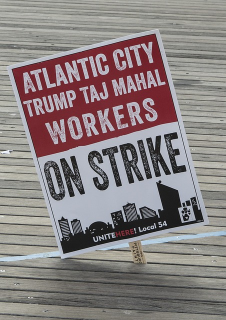 Trump workers on strike